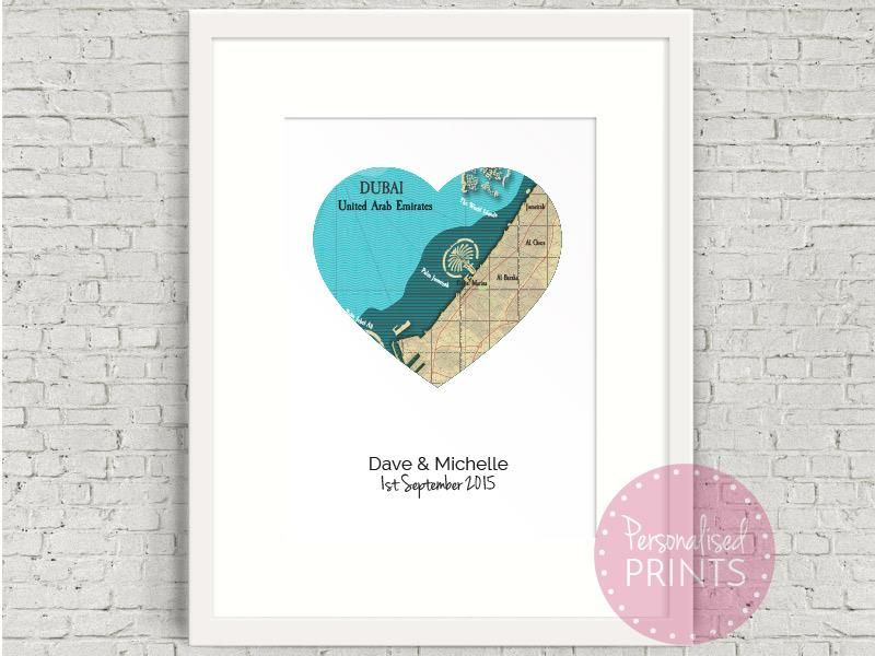 Personalised dubai wedding map word art from personalised prints in personalised dubai wedding map word art from personalised prints in dubai with easy online gumiabroncs Choice Image