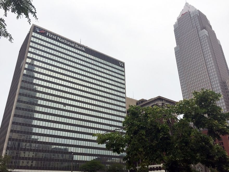 Public Square's big-ticket greening, updating and newfound popularity may shape the future of a 22-story office building bordering it that Optima Management Group has started to market for sale.