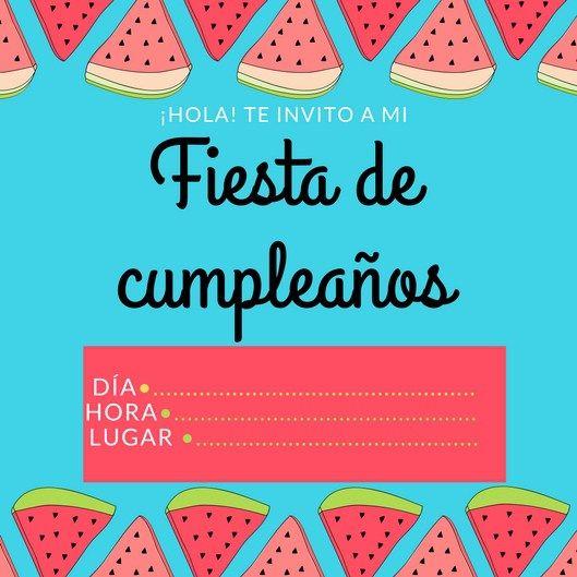 Invitaciones De Cumpleaños Gratis Invitaciones De