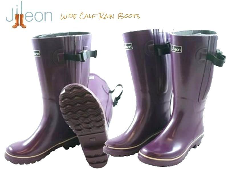 wide calf rain boots womens rubber