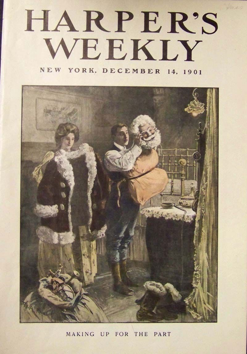 Harpers Weekly Cover Gilded Age Era New York December 14th C