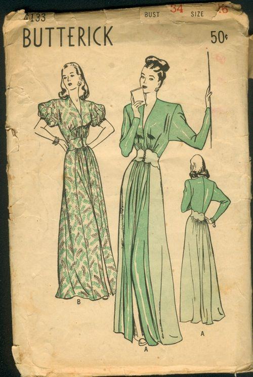 Butterick 4133 Vintage Sewing Patterns Vintage Dress Patterns Butterick Sewing Pattern