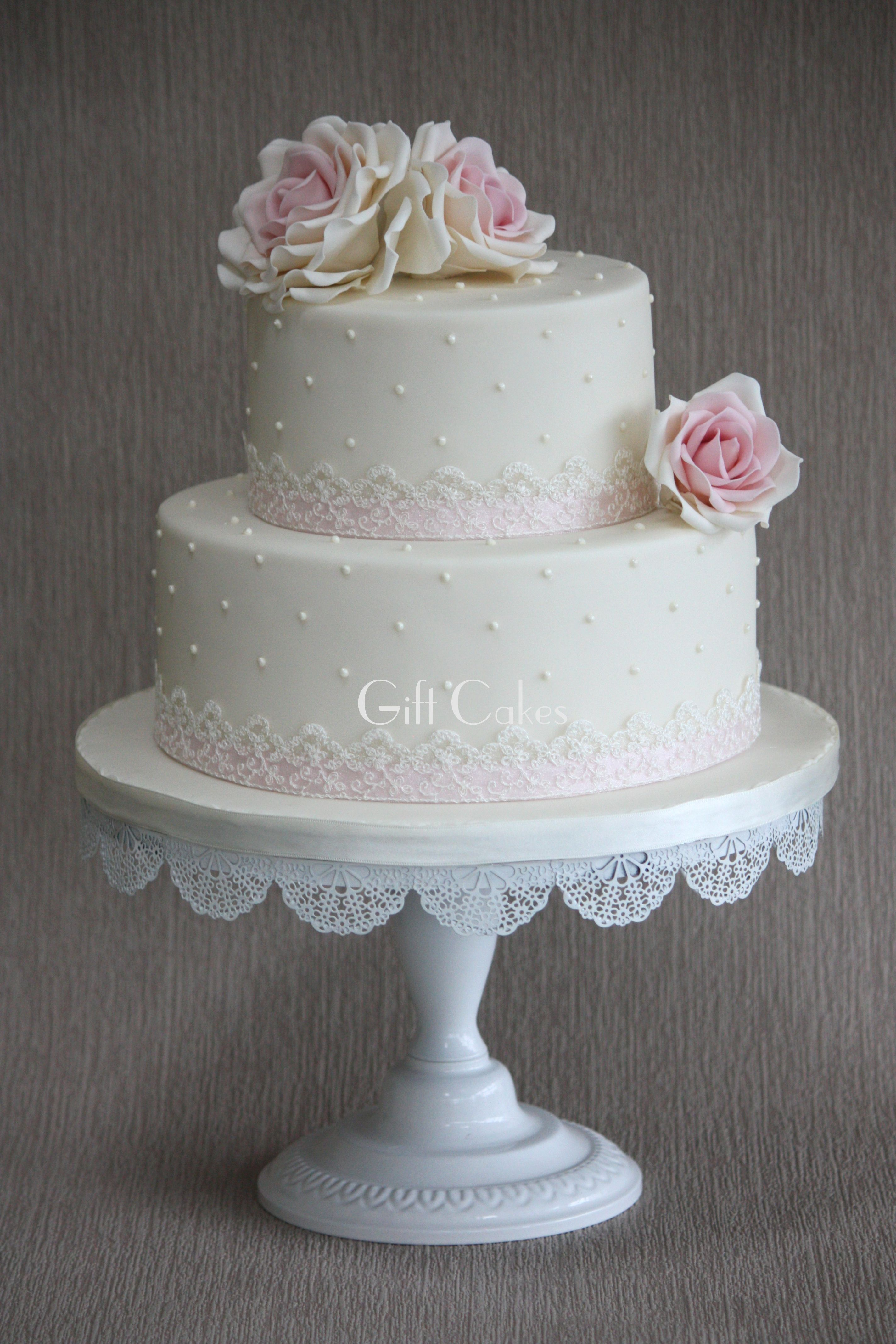 Wedding Cakes Two Tier With Flowers Dimonties Google Search - 2 Tier Wedding Cake Photos