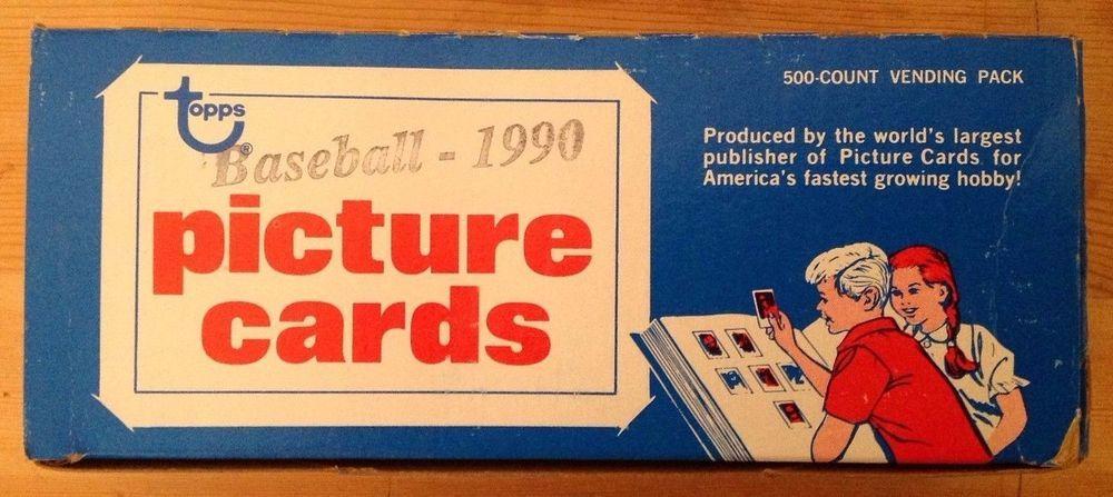 1990 topps baseball card 500 card count baseball cards