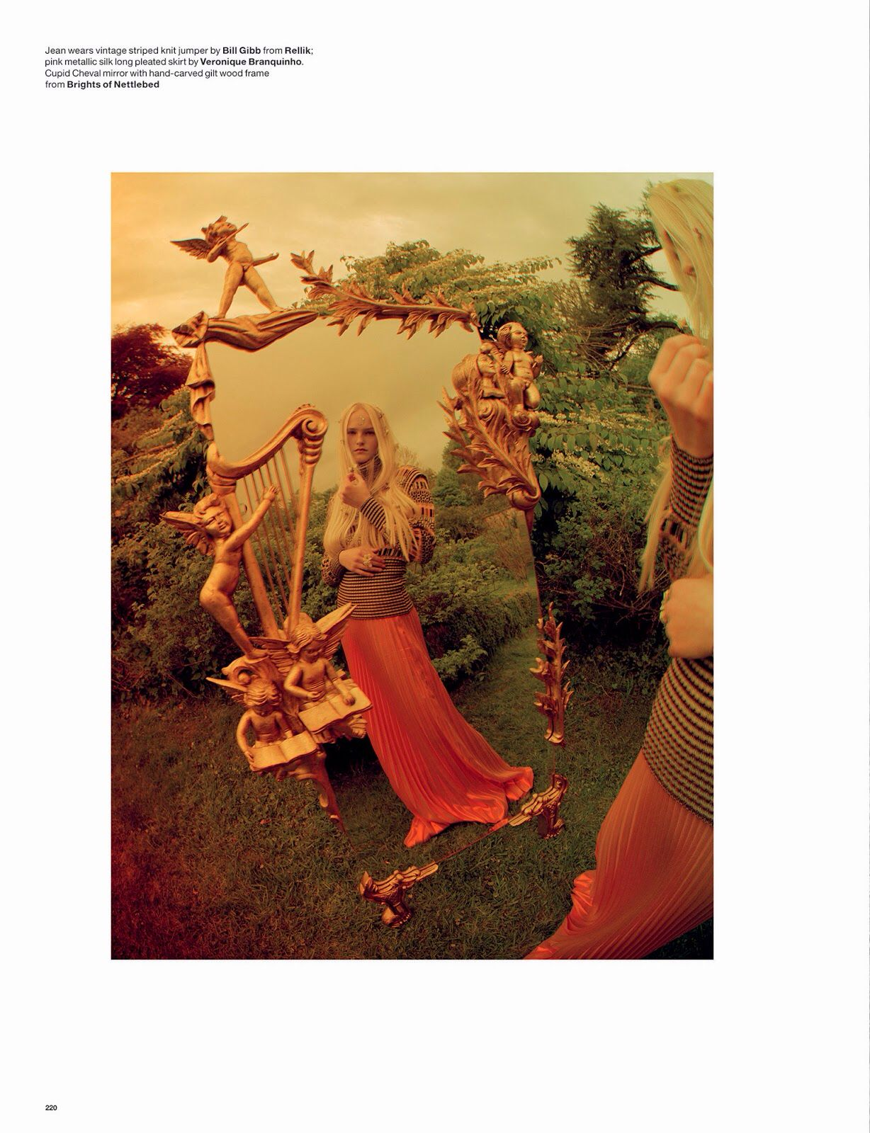 Wizard: Kate Moss, Edie Campbell, Matilda Lowther, Jean Campbell, Jake Love And Harry By Tim Walker For Love #12