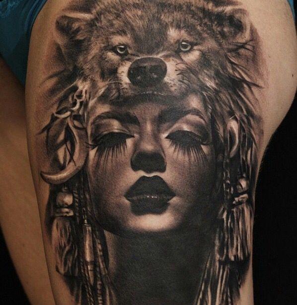 Great White Buffalo Native American Headdress Tattoo: Pin By Bryanna Guy On Artistic