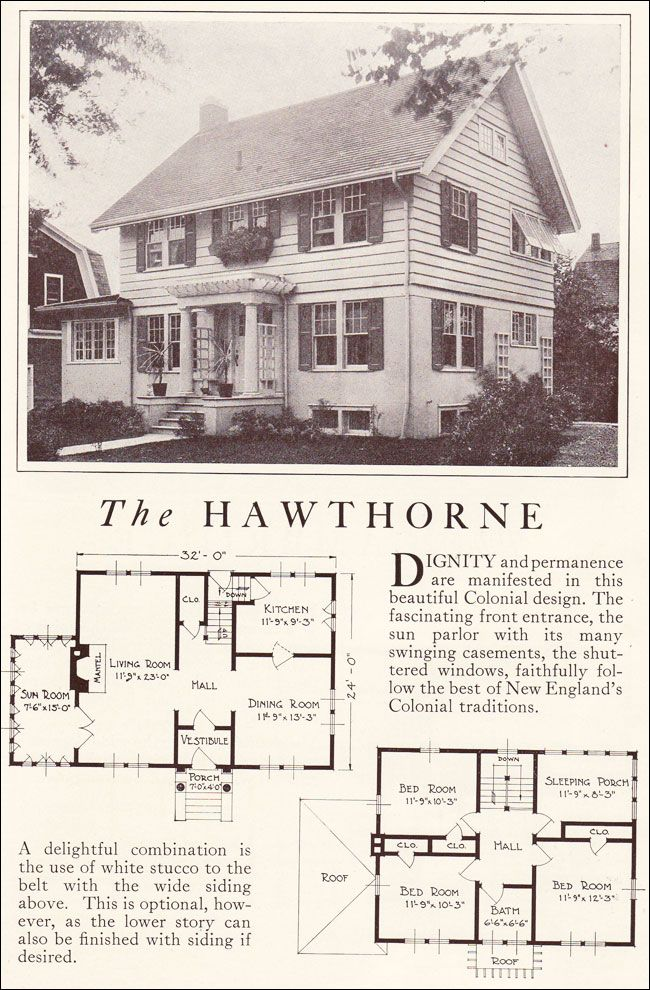 Wide Front Entrance Colonial Houses With Siding If Desired Lewis Homes Homes Of Character 192 Exterior Design House Blueprints Vintage House Plans