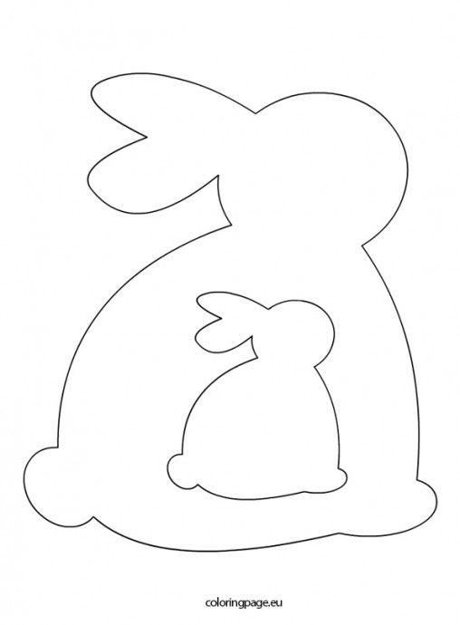 Easter Archives Coloring Page Ostern Vorlagen Hasen Schablone Basteln