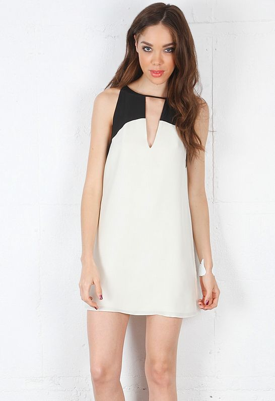 Parker Keyhole Combo Dress