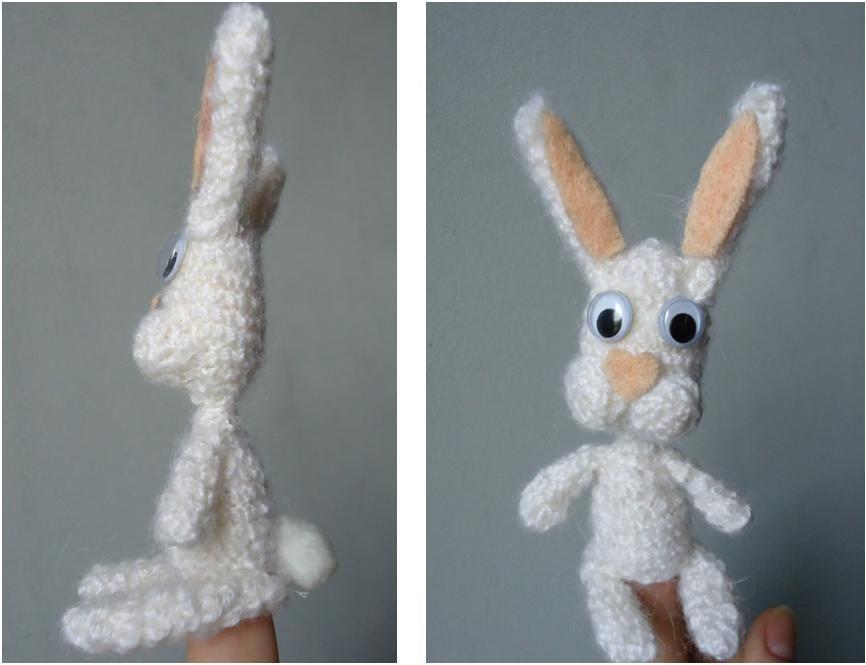 vingerpop konijn, leuk voor pasen