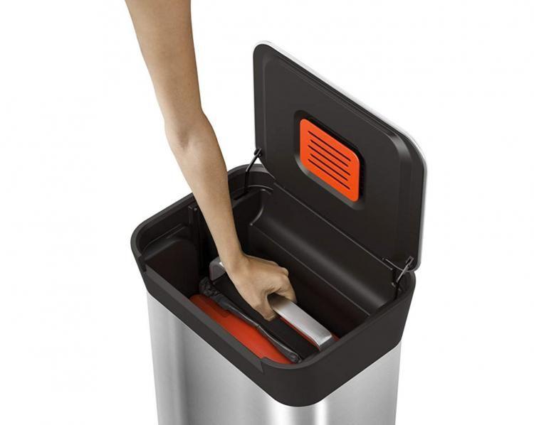 Titan Smart Trash Bin Lets You Easily Compact Your Garbage Compactor Trash Compactor Trash Bins