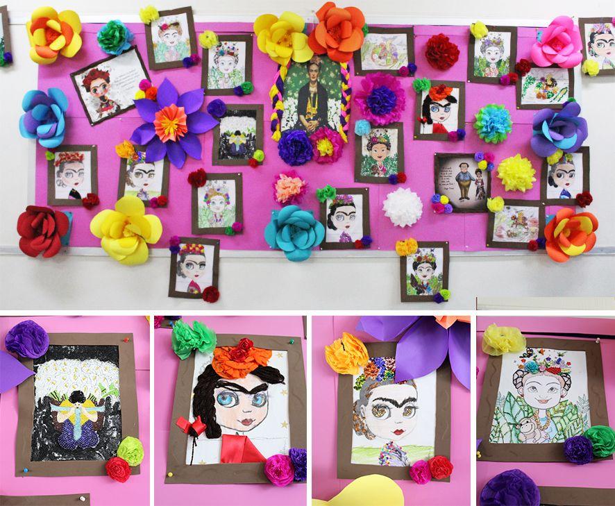 Friso de frida kahlo decoraci n de aulas pinterest - Decorar con friso ...