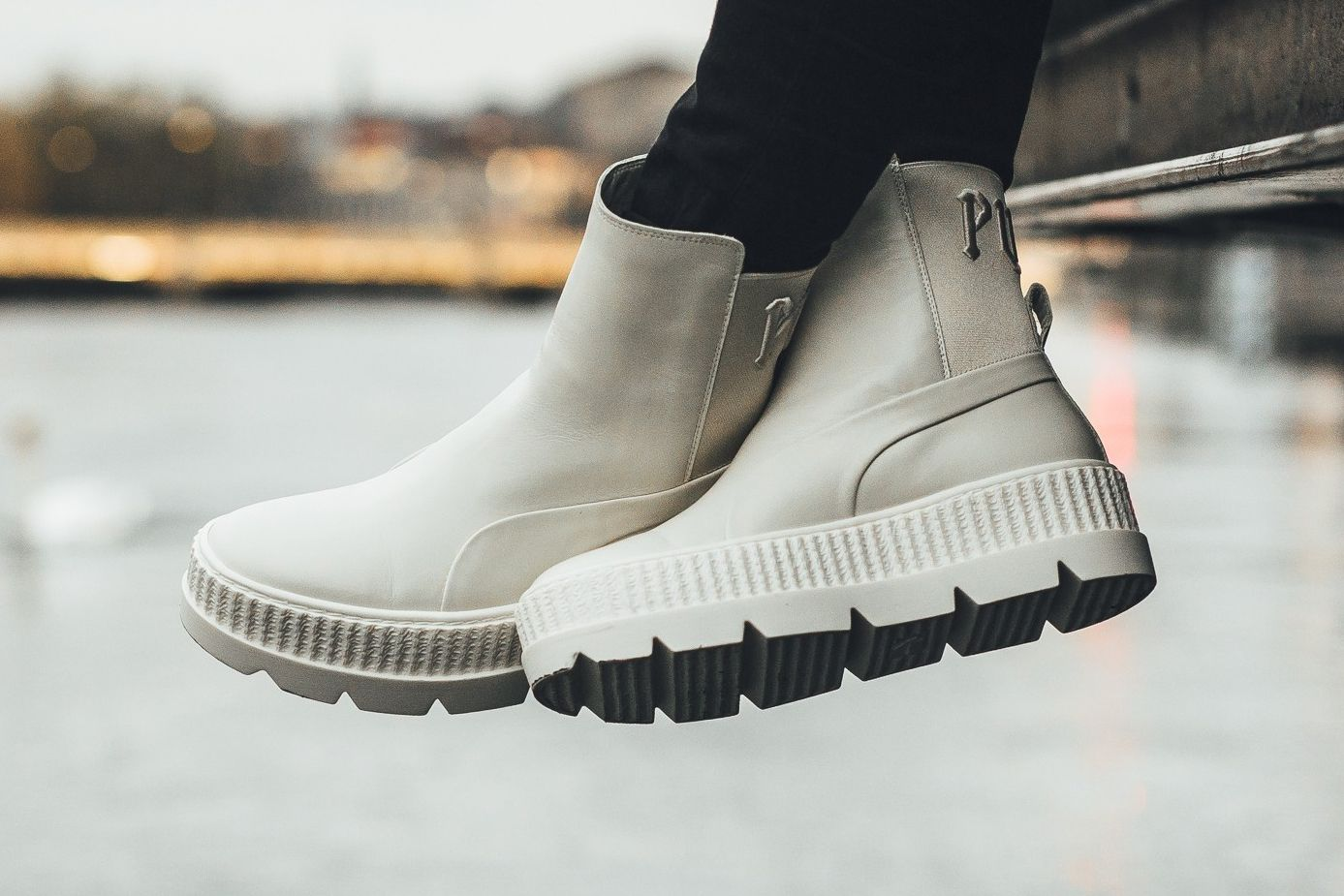 b20dc73a5ec197 Rihanna s Fenty PUMA Chelsea Sneaker Boot Drops in