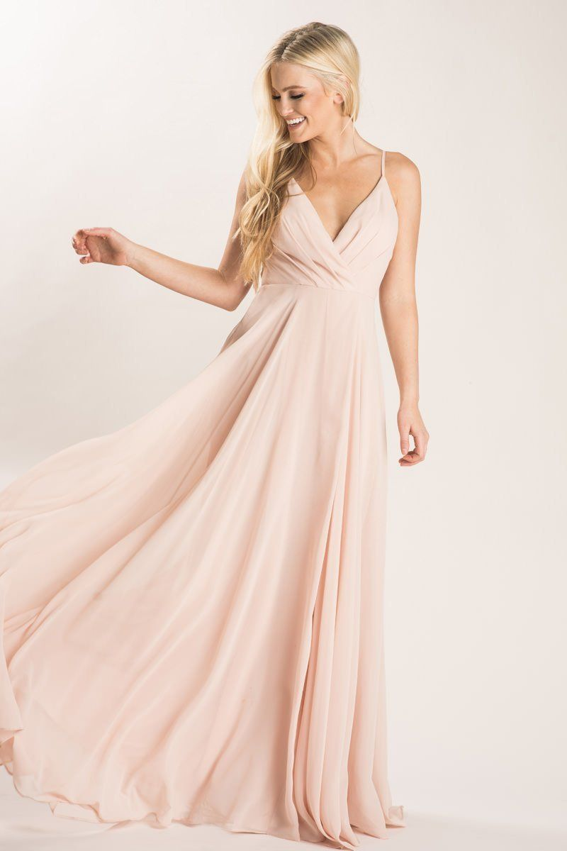 603ebccfef71 Cassidy Blush Flowy Maxi Dress | Kt's Wedding | Flowy bridesmaid ...