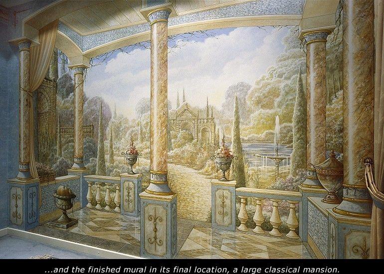 Classical Murals Made By Eddie Van Hoef Dipinti Murali Decorazioni Dipinte Pitture Decorative