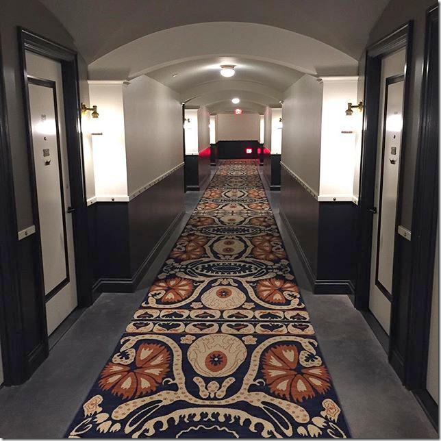 Image result for hotel emma carpeted hallway