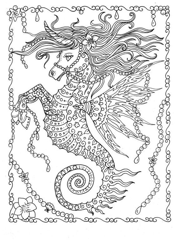 Fanta Sea Coloring Book Under The Adventure Adult By ChubbyMermaid