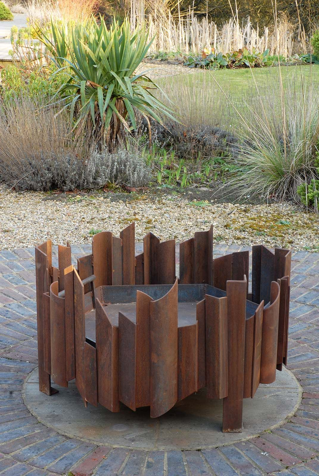 Photo of Magma fire pit Each one that is made is a unique piece and comes numbered with its own tag. It can be made in different sizes, or in stainless steel,