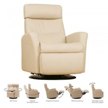 Divani Relaxer Leather Recliner Swivel Chair Top Grain