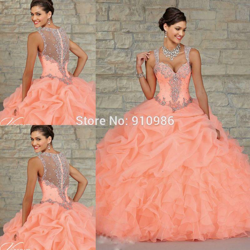 Quinceanera Dresses Neon Coral images   15   Pinterest ...