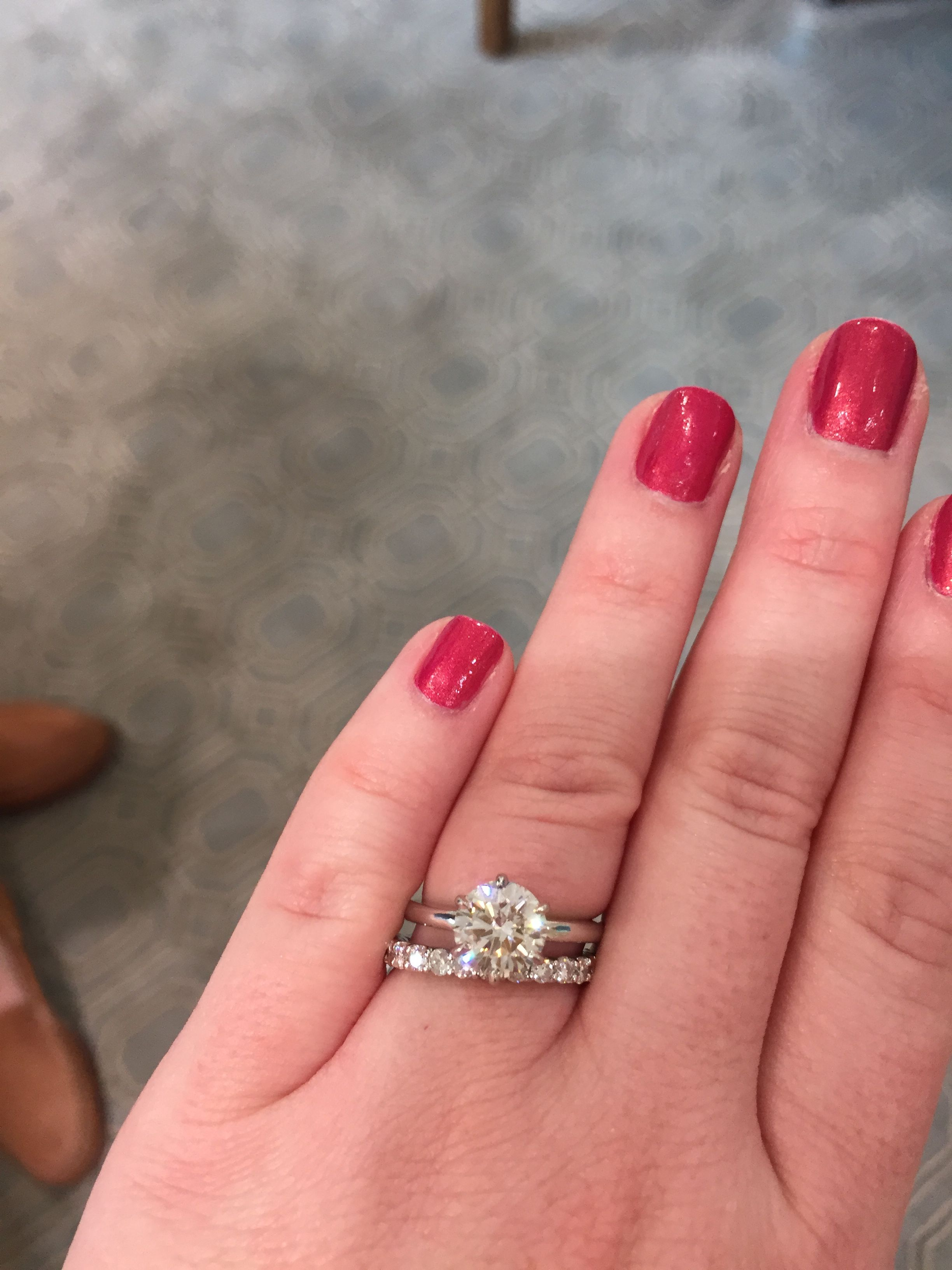 My wedding ring set! ❤ 2 carat solitaire engagement ring with an ...