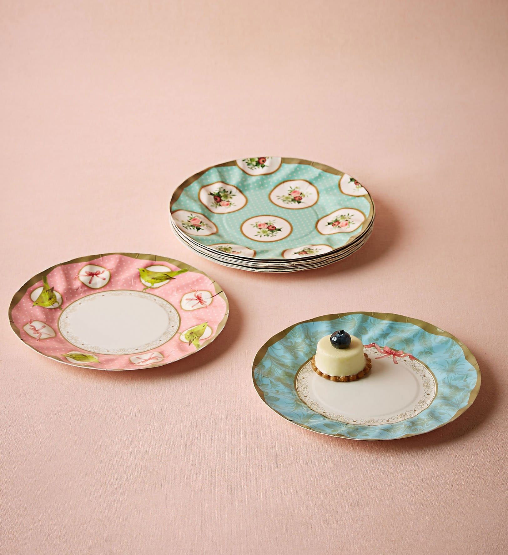 & Pretty Paper Plates for Spring Parties