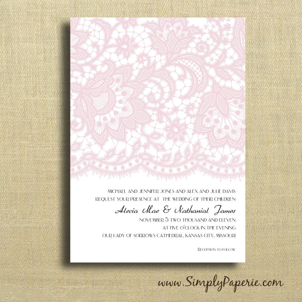 Vintage Lace Wedding Invitations - Simply Paperie   Wedding stuff ...