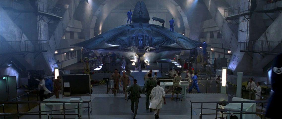 Captured Alien Fighter Independence Day, 1996 ...