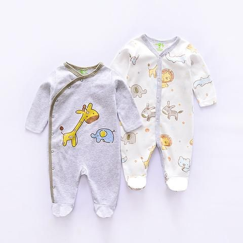 d45b29924528 2018 new long sleeve baby Romper Baby boys Jumpsuit newborn Cartoon lovely rompers  infant Rompers baby girls Jumpsuit 2pcs set
