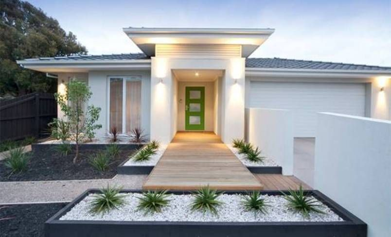 Landscaping And Outdoor Building Modern House Front Yard