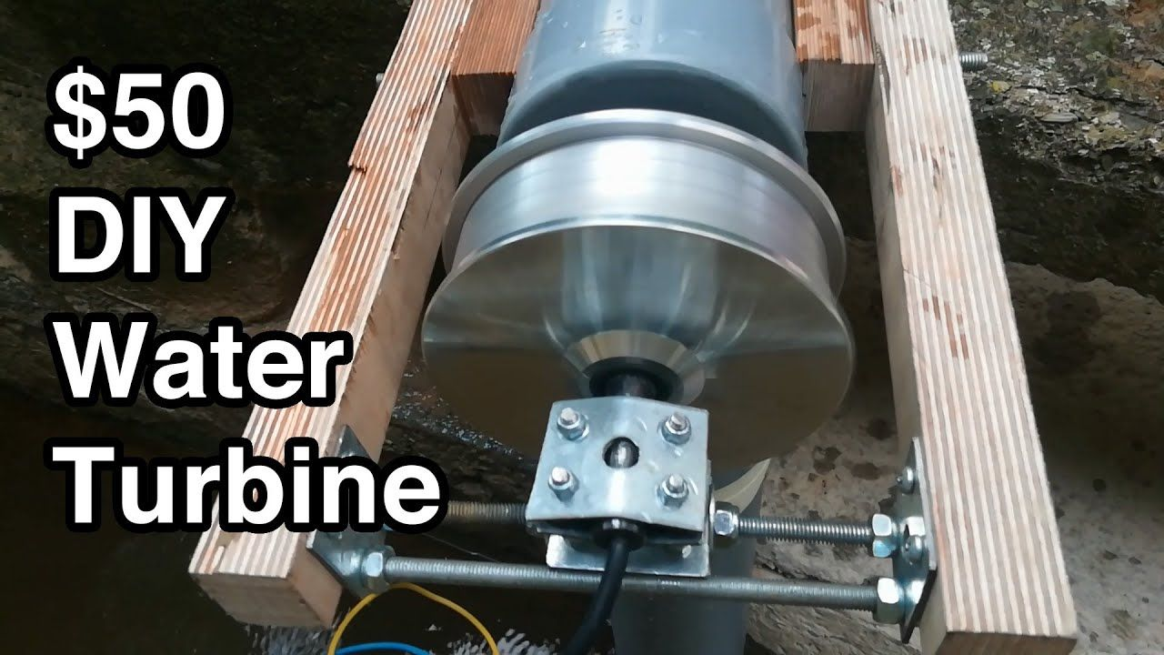 La Turbine Hydraulique 50 Faite Main Portable Puissante Et Open S In 2020 Water Turbine Diy Water Turbine