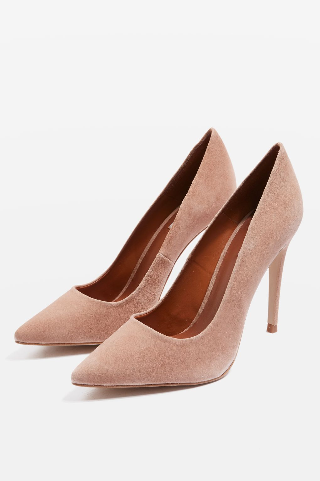 DOLCIS NUDE SUEDE- GOLD TOE DETAILED SPECIAL OCCASION COURT SHOES SIZE UK 5 NEW