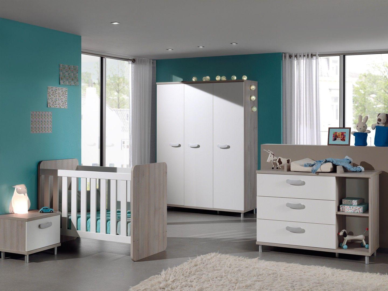 Chambre bébé contemporaine coloris grège/blanc Violine | Chambre ...