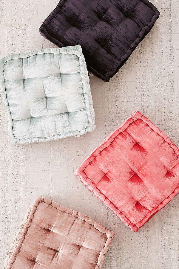 Ruthie Velvet Floor Pillow   Floor pillows, Pillows and Apartments