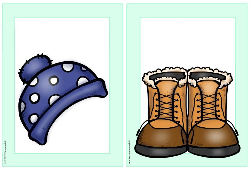 flashcards wordcards winter clothes im englischunterricht geht es in meiner klasse nun weiter. Black Bedroom Furniture Sets. Home Design Ideas