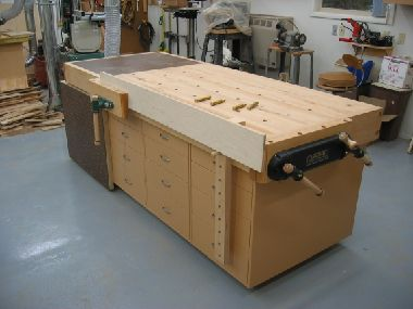 Workbench with Downdraft Sanding Table? Genius.