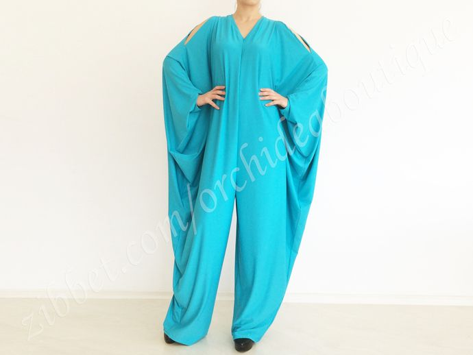 Unique Fitted Onesie Turquoise