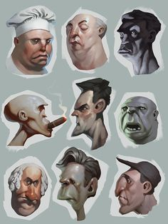 Image Result For Variations On Stylized Face Concept Art