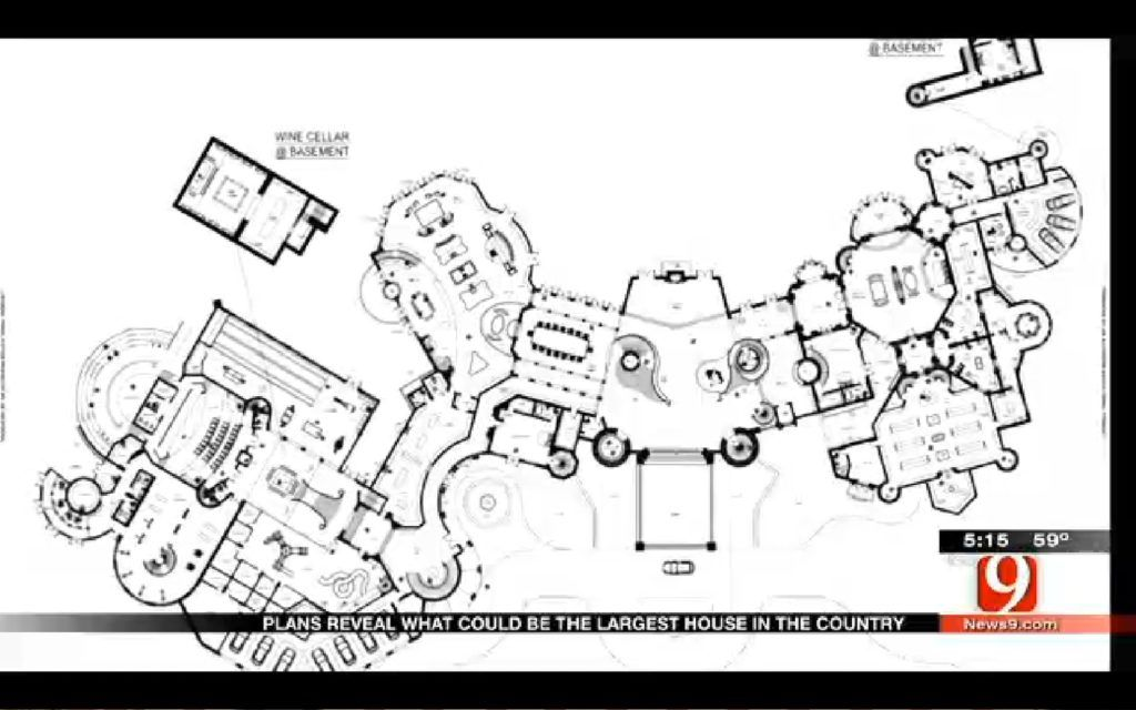Mega Mansion House Plans partial plan of a 8607.4667 sq. meter (92,650 sf.) mansion