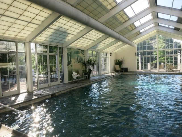 Saltwater Indoor Pool With Retractable Roof; The Martha Hotel