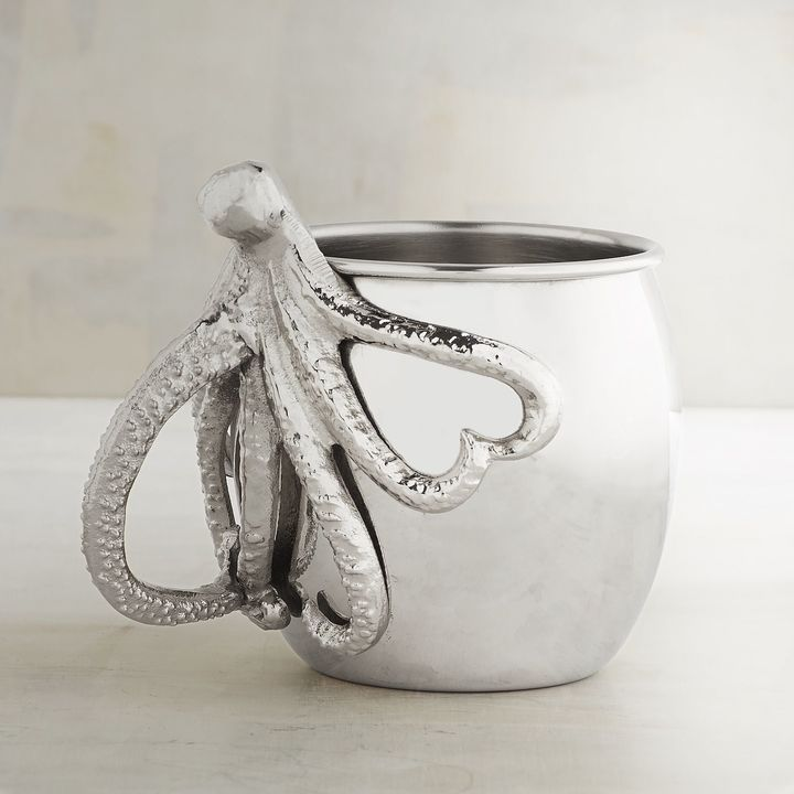 Pier 1 Imports Octopus Stainless Steel Moscow Mule Mug Moscow Mule Mugs Mugs Octopus Stainless steel moscow mule mugs