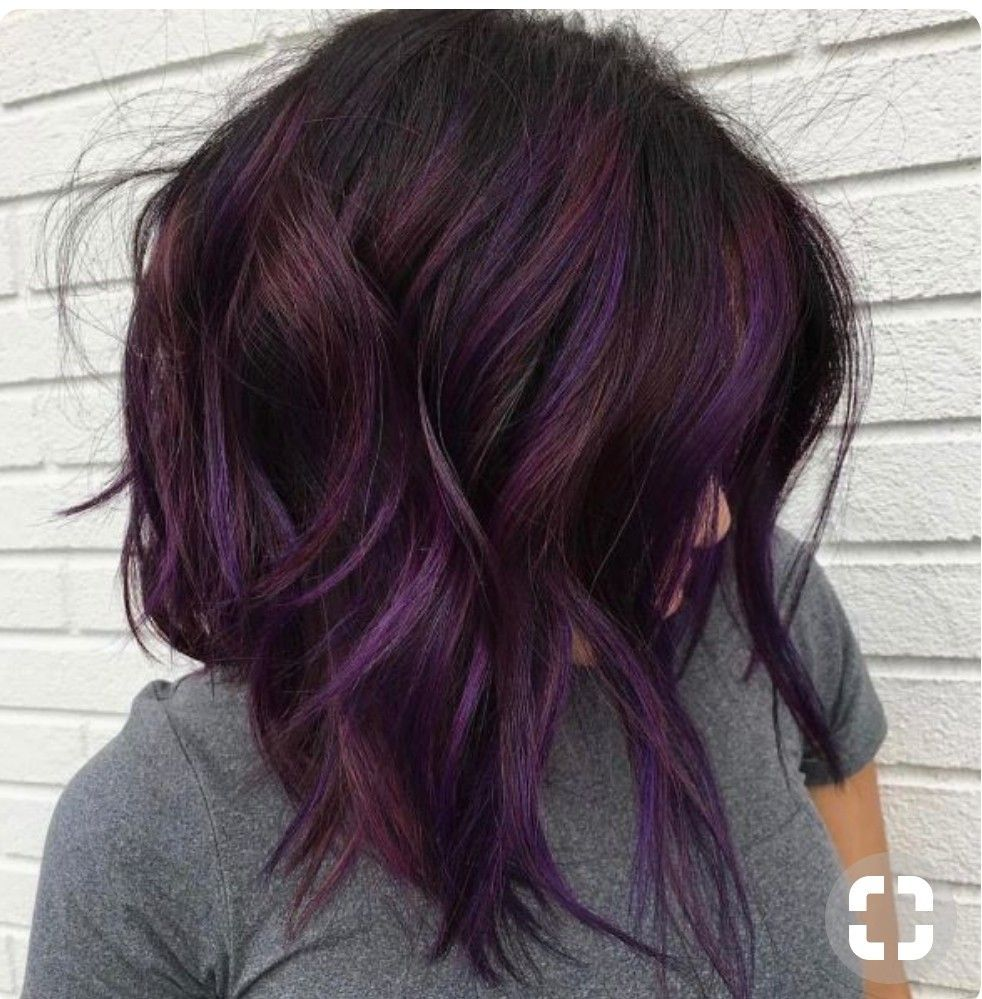 Brunette with purple hair color purple hair pinterest hair