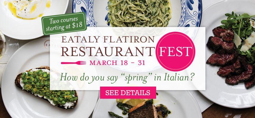 Eataly nyc flatiron eataly dinner deals restaurant deals