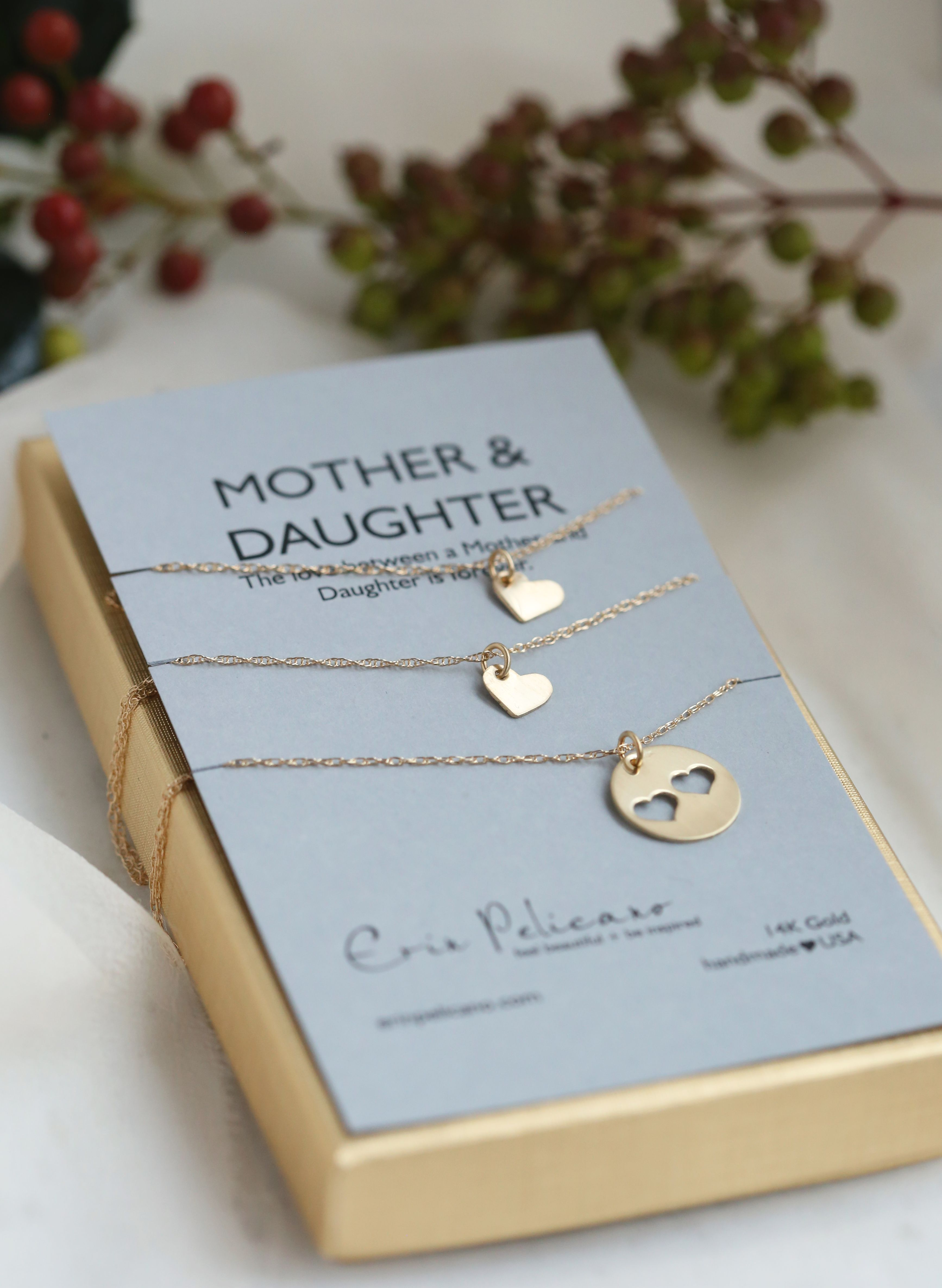 Christmas Gift Ideas For Mom From Daughter.Mom Daughter Jewelry Wife Gift Handcrafted Meaningful