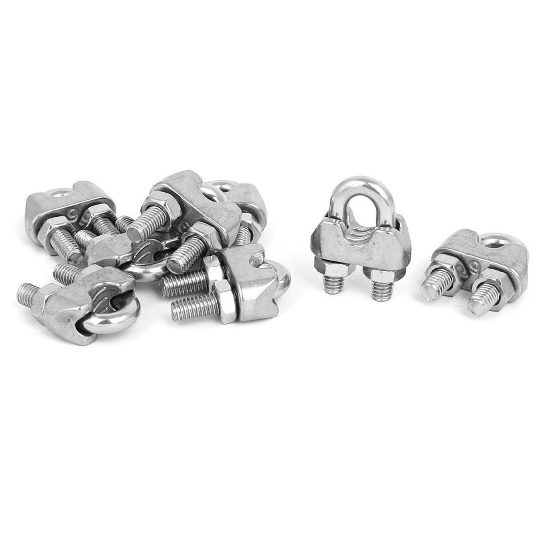 M6 1 4 Inch 304 Stainless Steel U Shape Bolt Saddle Clamps Cable Wire Rope Clips 8 Pcs With Images Cable Wire Saddle Clamp Bolt