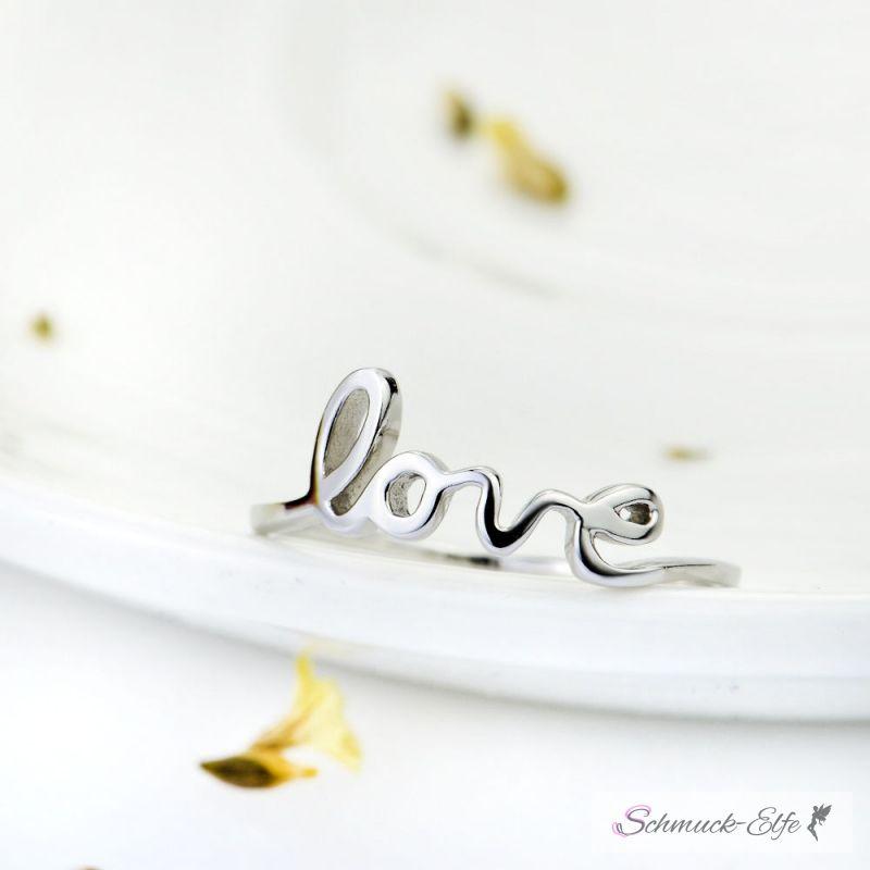 """Silberring """" love"""" aus 925 Silber im Etui , 69,99 €"""