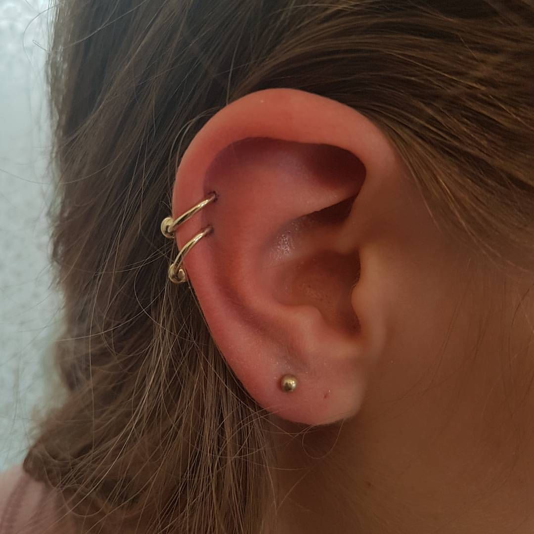 Double piercing ideas  ᴘɪɴᴛᴇʀᴇsᴛ  gcidmartinez  Accesories  Pinterest  Lobe