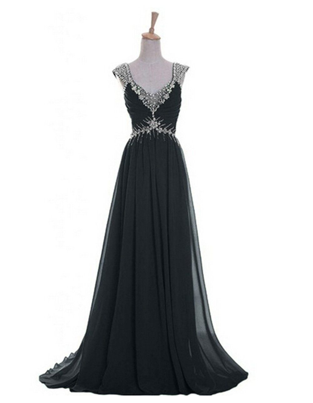 Emma y luxury vneck prom gowns party dresses chiffon long us