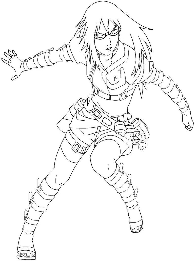 uzumaki karin naruto coloring pages pinterest naruto and anime