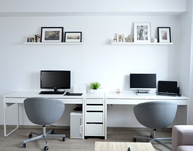 Living Room   Home Office   IKEA Desks   Micke   Picture Ledges    Minimalist Decor Part 82